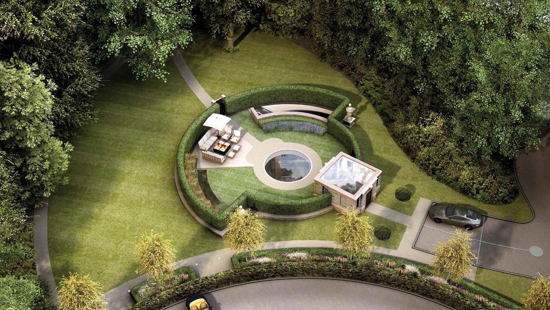 casa ecológica con amplio jardín