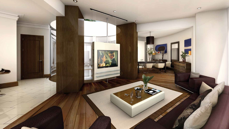 amplio salón de la casa