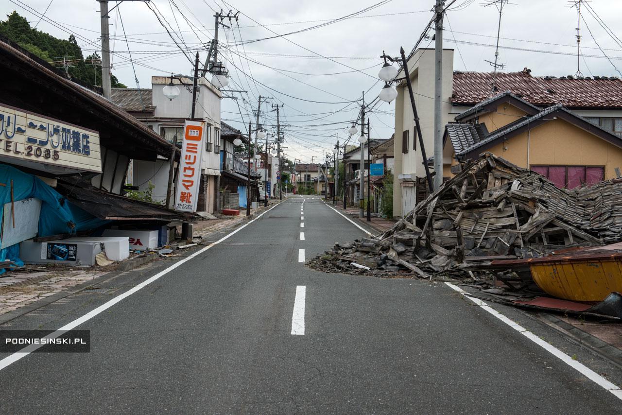 Un pueblo de la región de Fukushima después del accidente nuclear