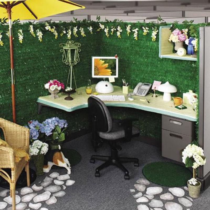 Oficina decorada al estilo verde