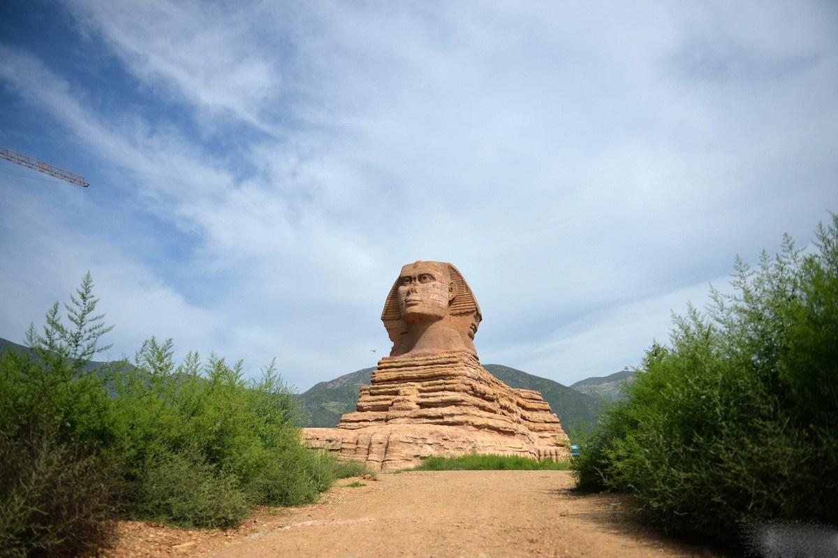 Réplica de una esfinge en China
