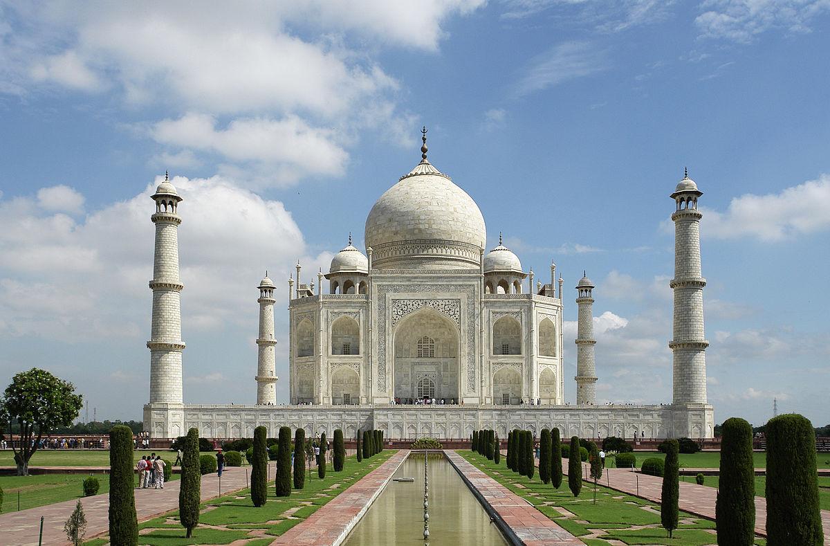 El taj Majal, situado en la ciudad de Agra