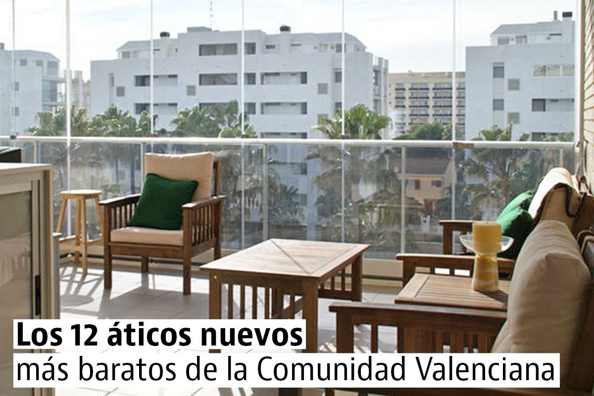 Los áticos nuevos más baratos de la Comunidad Valenciana