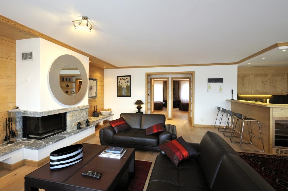 Detalle del hotel de lujo suizo