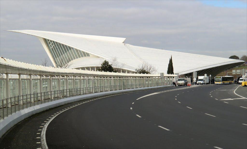 El aeropuerto de Bilbao diseñado por Calatrava