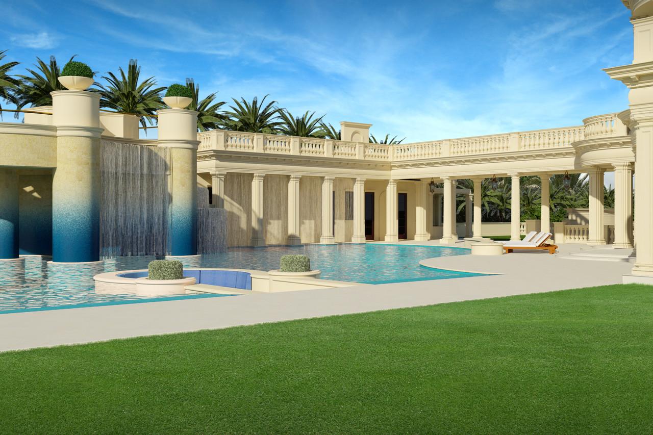 La mansión de lujo en Florida