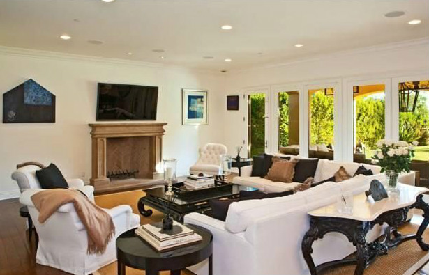 La casa de lujo en Beverly Hills