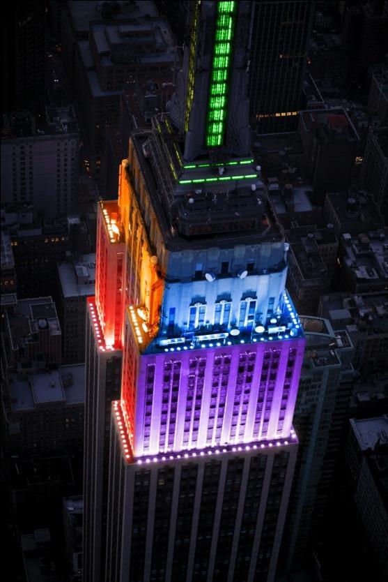 El Empire State Building iluminado
