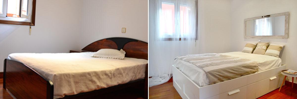 Dormitorio decorado por home stagers