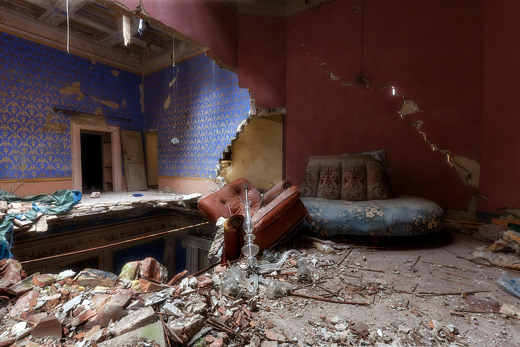 Una casa abandonada