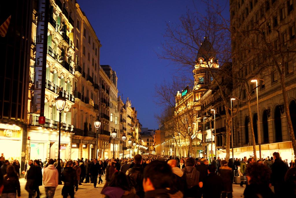 Puerta del Ángel en Barcelona, una del las calles comerciales más cotizadas