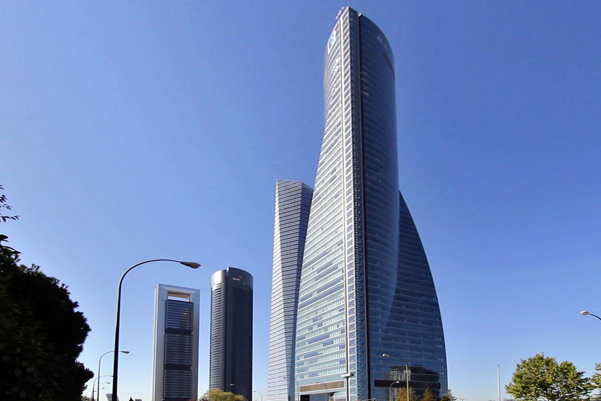 La Torre Espacio, uno de los rascacielos más emblemáticos de Madrid