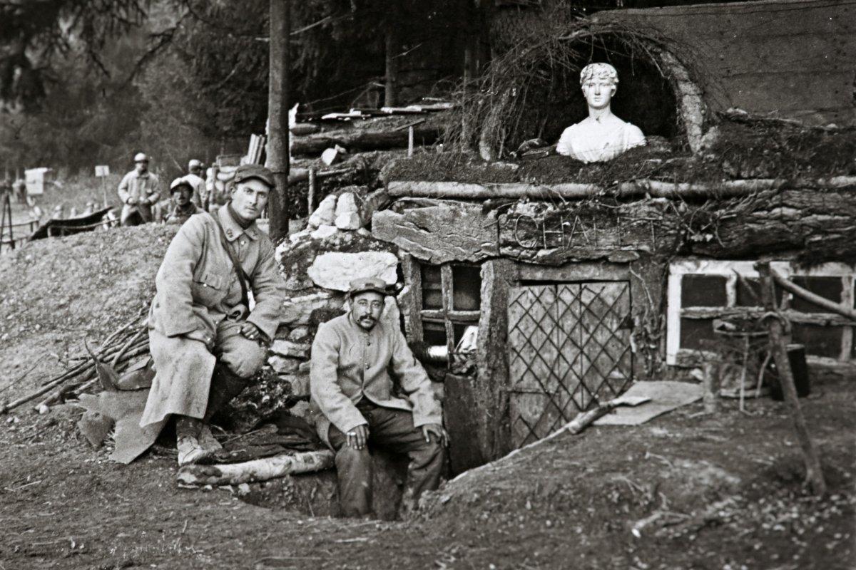 Una imagen de soldados durante la I Guerra Mundial