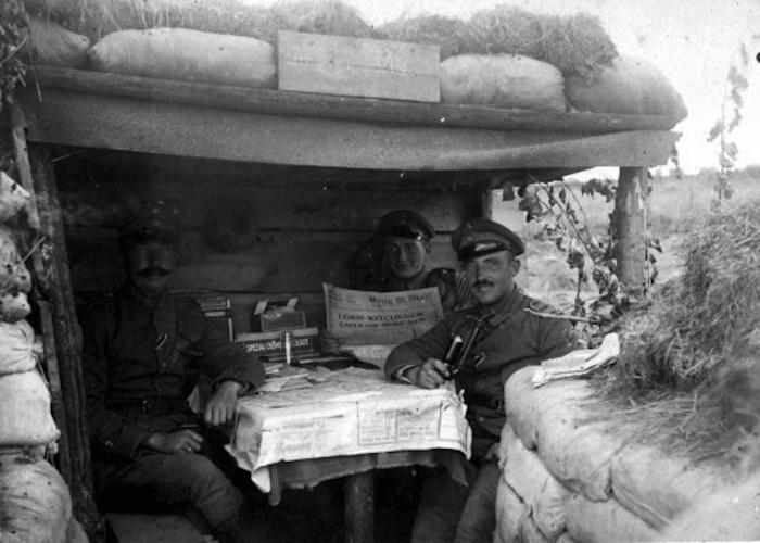 Una de las instantáneas enviadas por los soldados a sus familias desde el frente