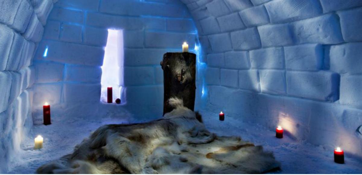 El hotel de hielo en Finlandia