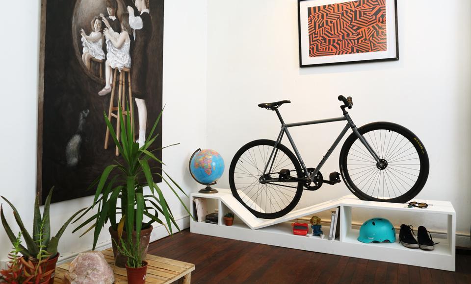Bicicleta en casa