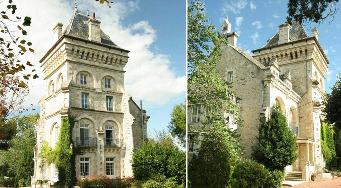 El palacio de estilo neogótico en Francia