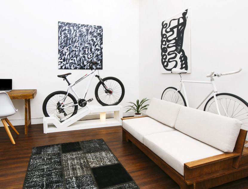 Mueble de diseño para la bicicleta