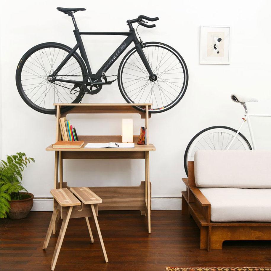 Guardar la bici colgada en casa
