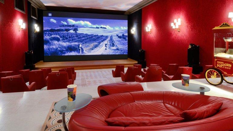 La sala de cine en la casa