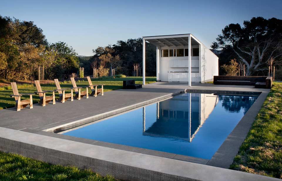 La piscina de la casa de ensueño en California