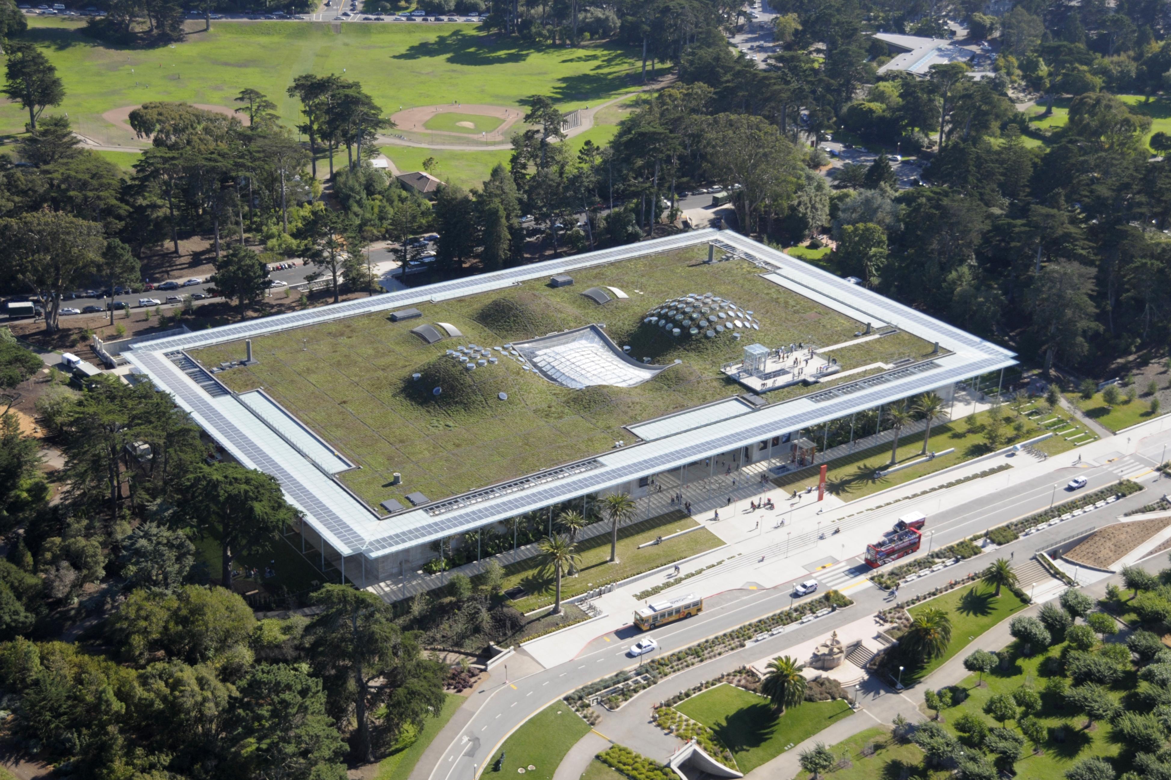 El jardín sobre el techo del California Academy Of Sciences (Los Ángeles)