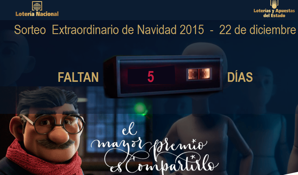 El anuncio de la lotería de Navidad 2015