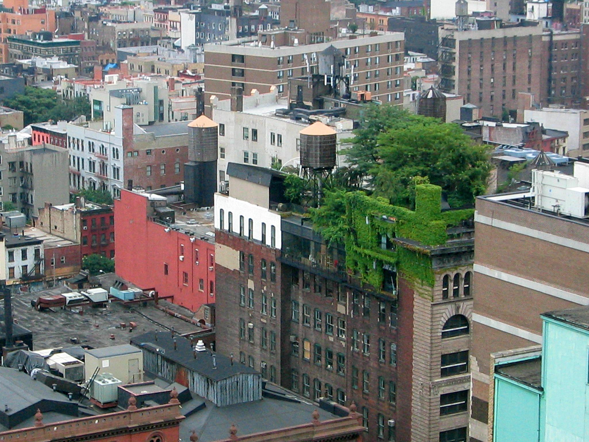 Un impresionante jardín en el tejado en Nueva York