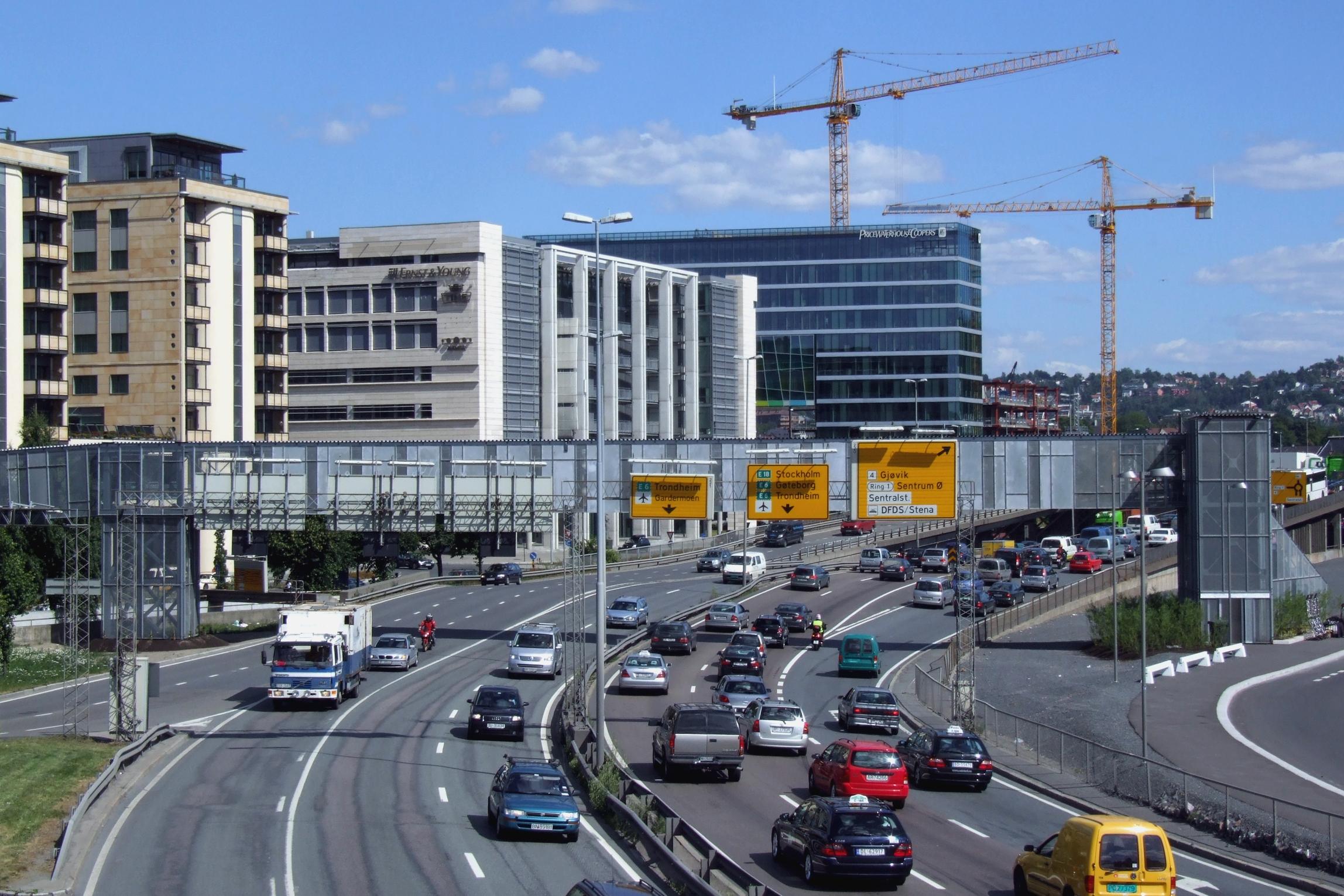 El tráfico de la ciudad de Oslo