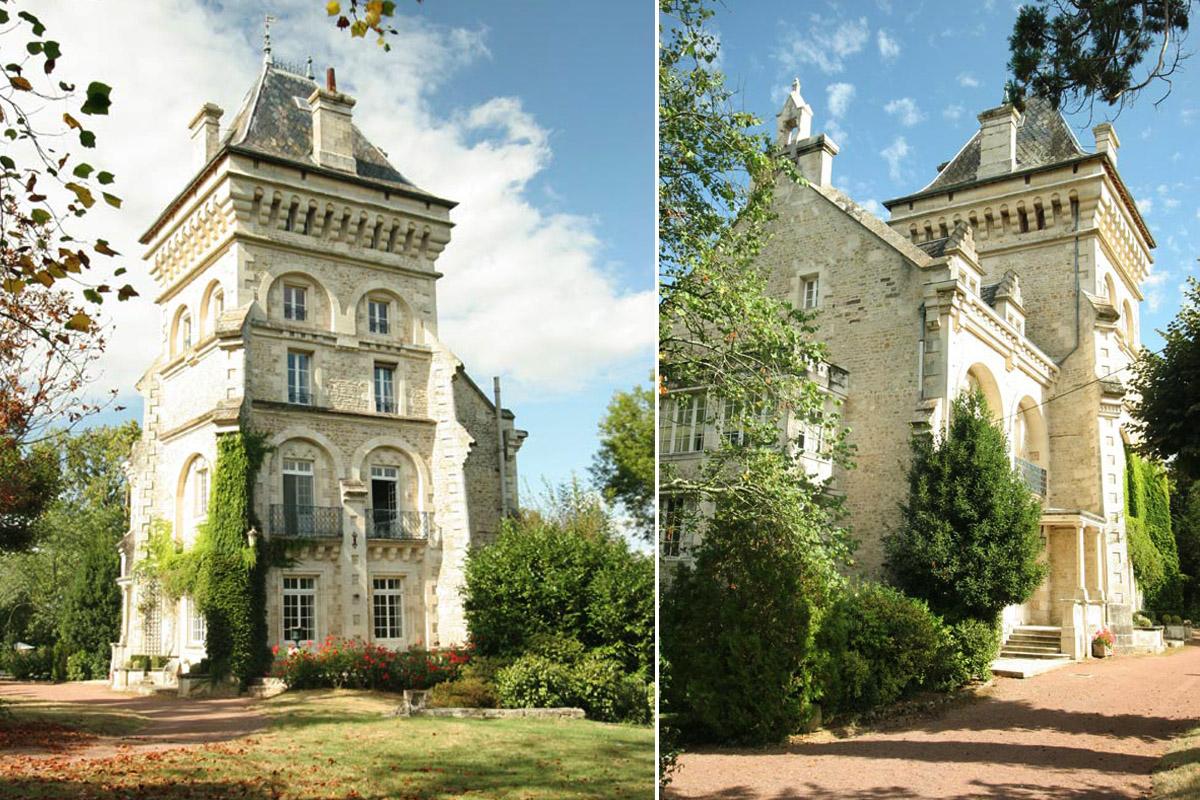 La casa con una espectacular torre