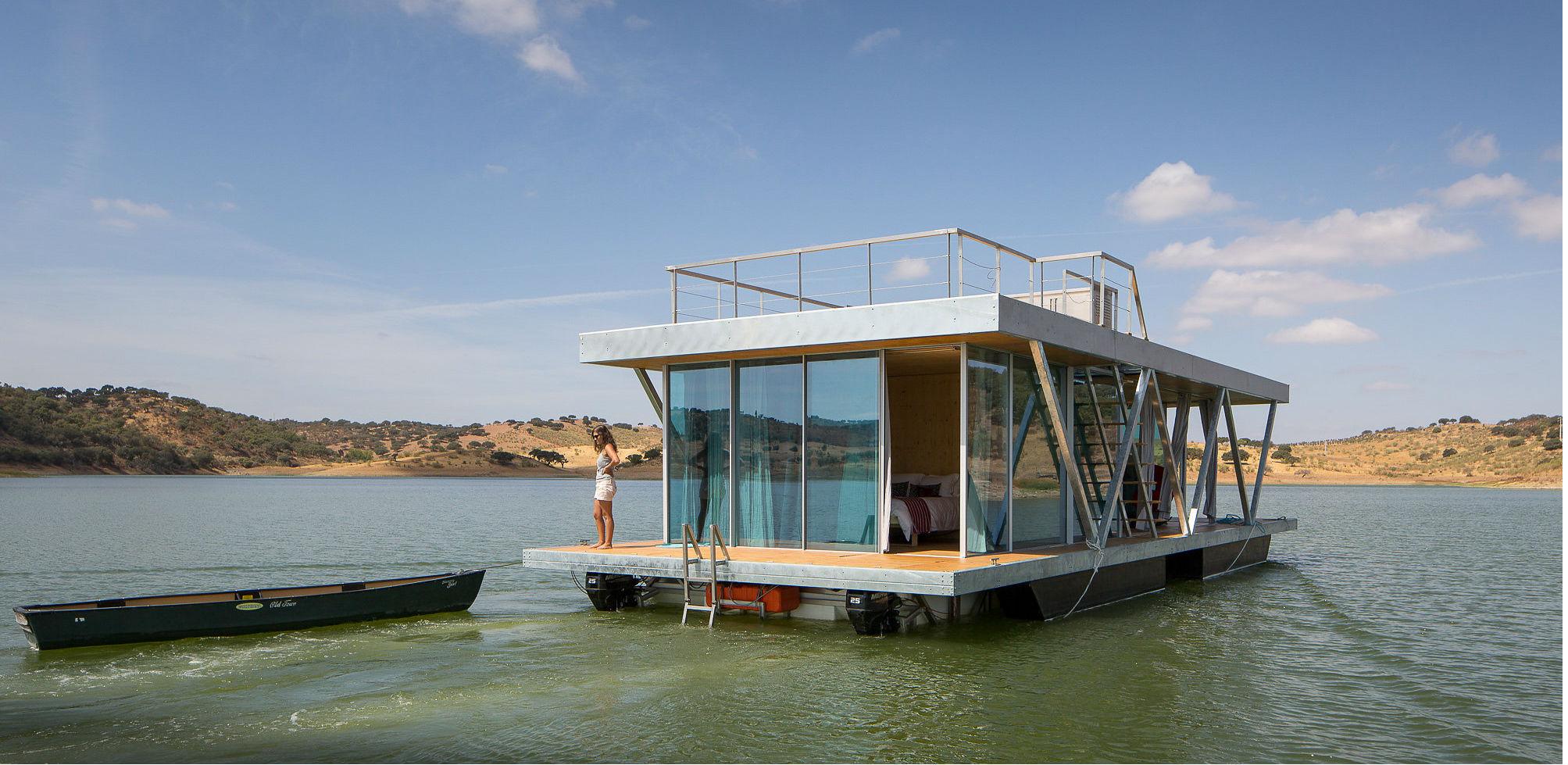 La casa de lujo flotante en Portugal