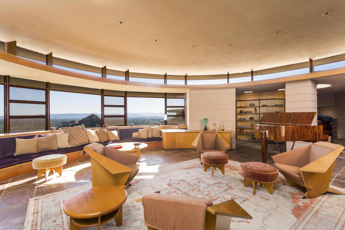 Interior de la casa diseñada por el famoso arquitecto