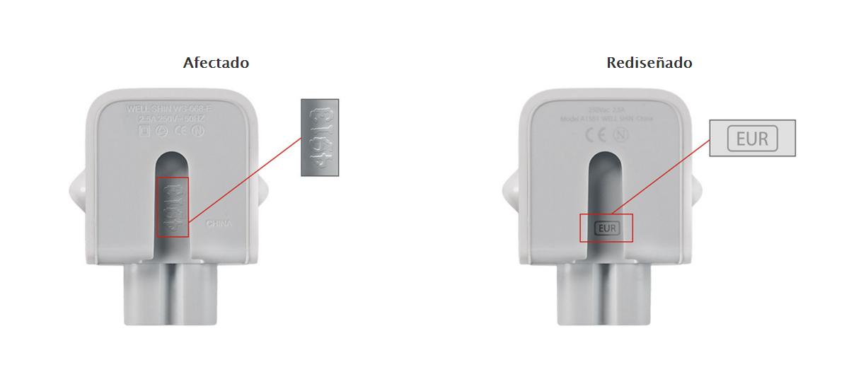 """Apple retira algunos modelos de sus adaptadores de corriente por """"riesgo de descargas eléctricas"""""""