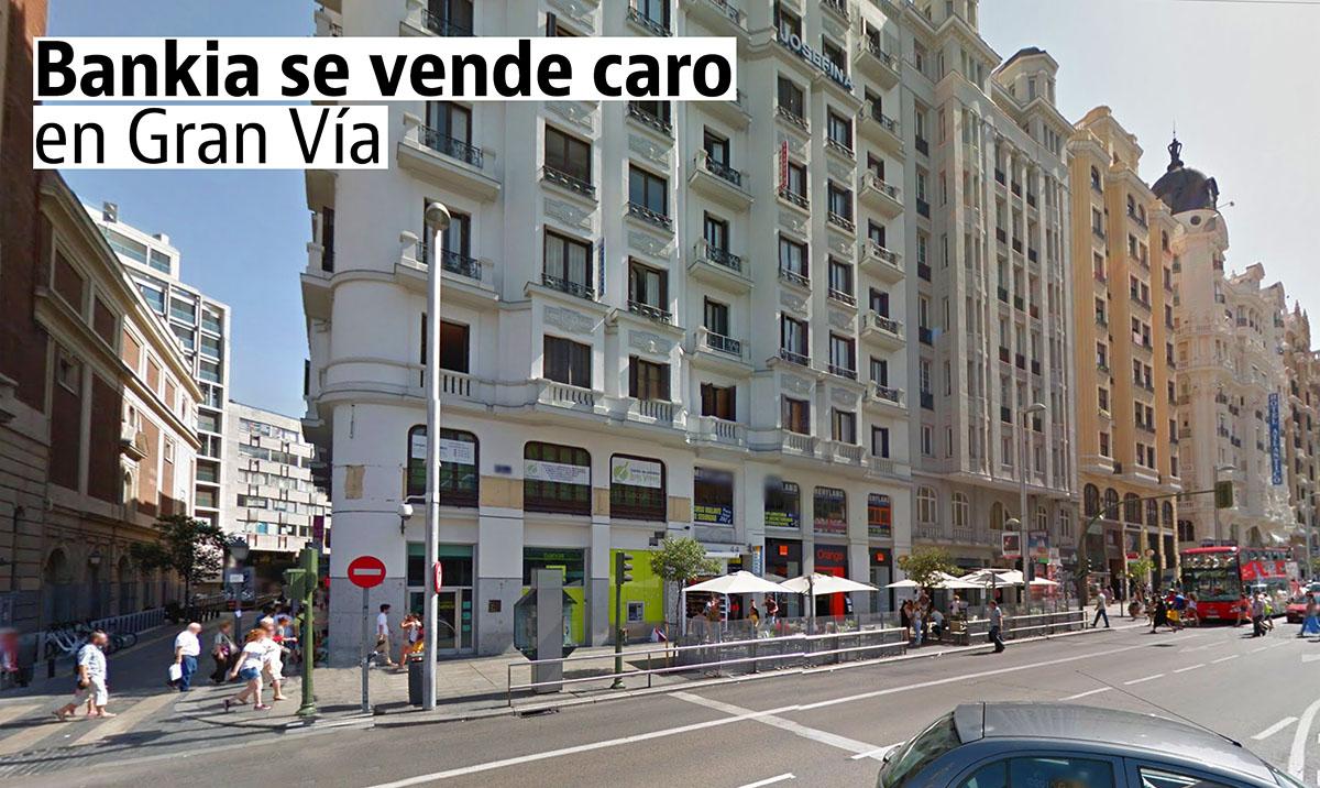 Las oficinas vendidas por Bankia en Madrid
