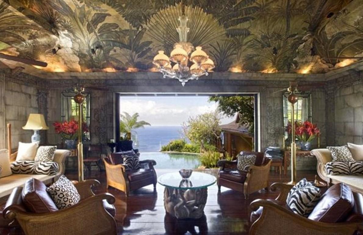 La increíble casa de Bowie en los Caribes