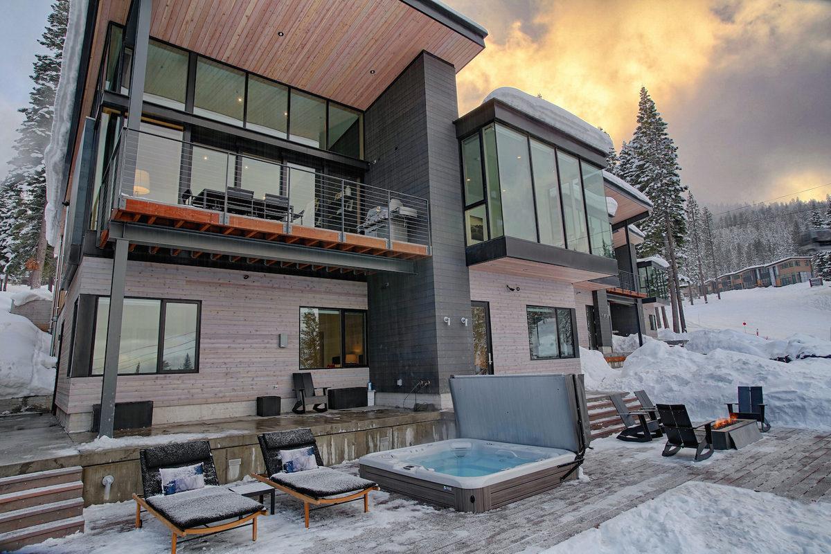 El resort de lujo en la nieve