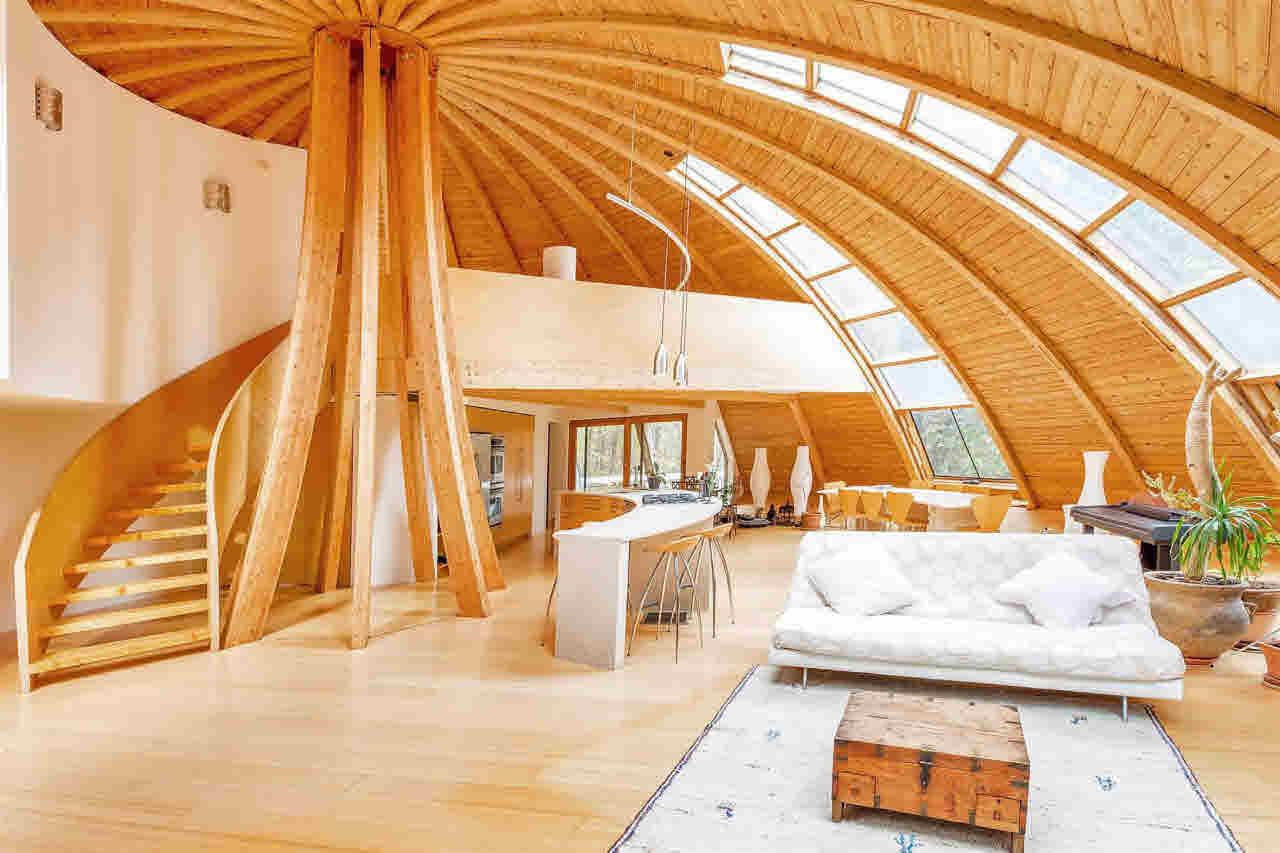 Interior de la casa ecológica