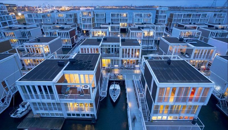 Casas flotantes de diseño