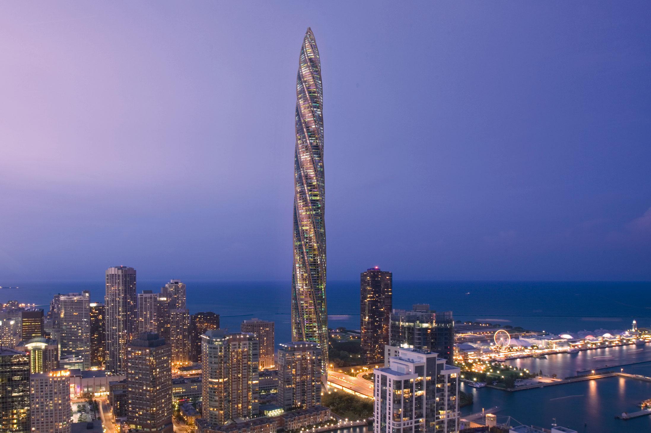 El Chicago Spire, la torre diseñada por Calatrava
