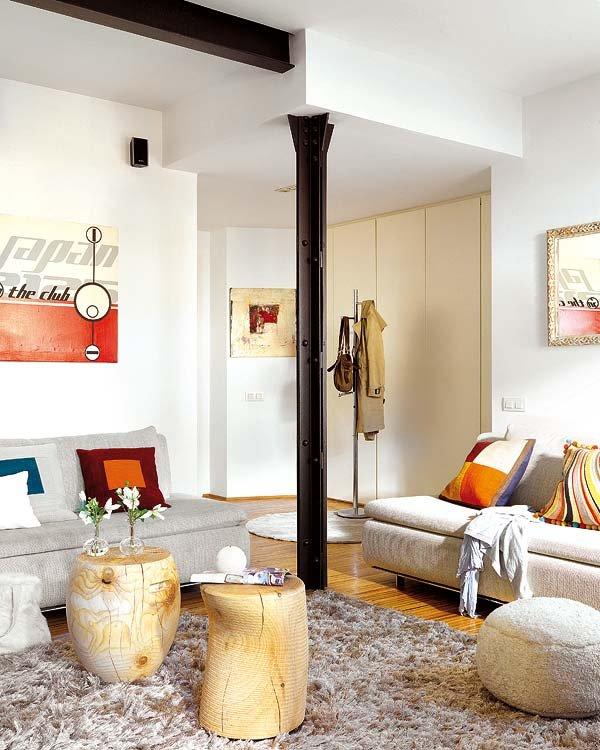 Ideas de decoraci n c mo sacar provecho a las inc modas columnas y pilares de carga idealista - Columnas decoracion interiores ...