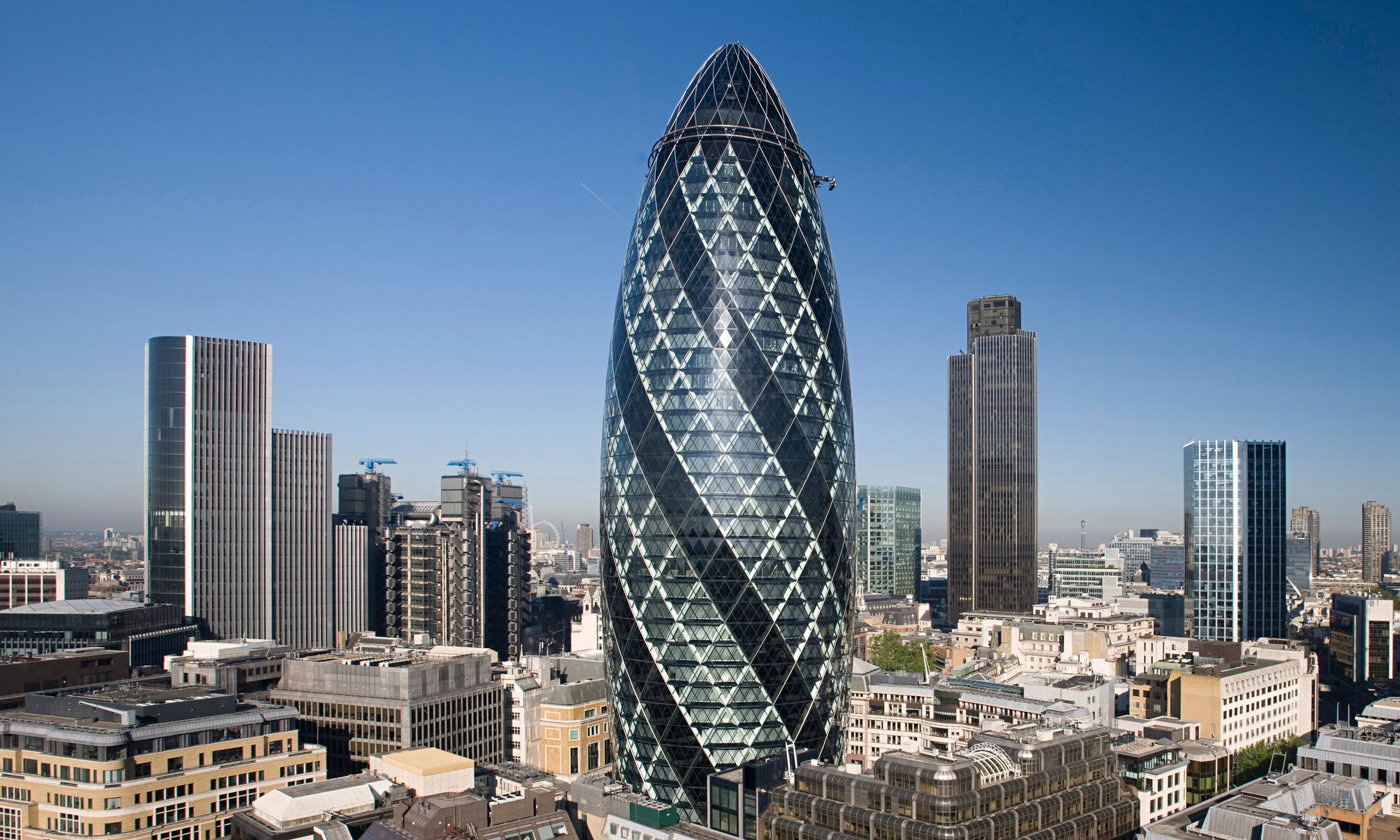 el Gherkin uno de los edificios más altos de Londres