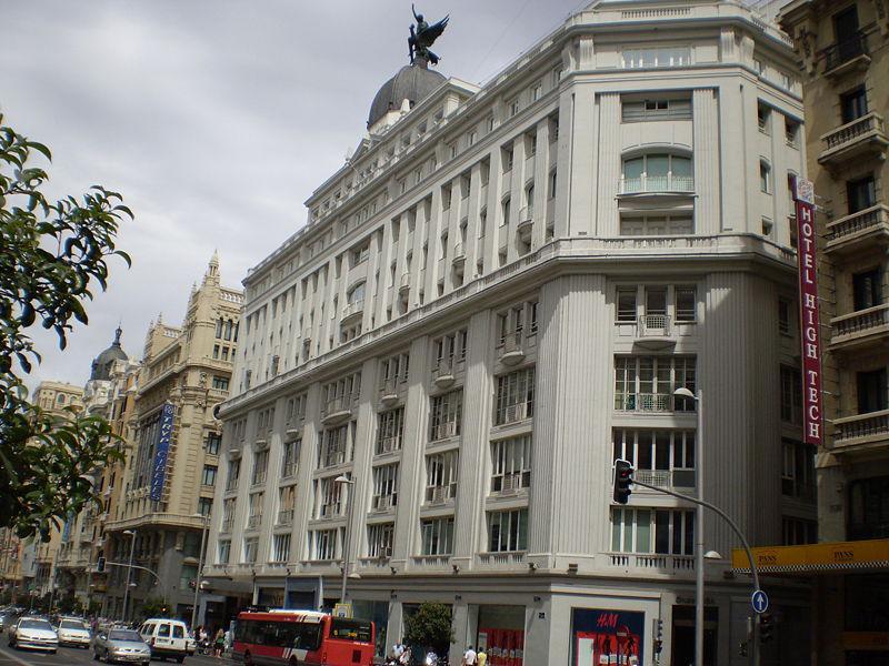 El edifico en Gran Vía 32 comprado por Amancio Ortega