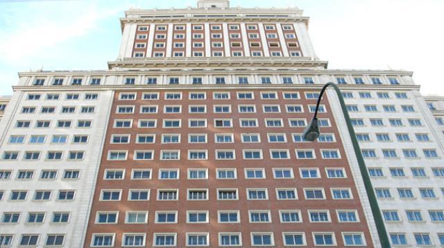 La fachada del Edifico España en Madrid
