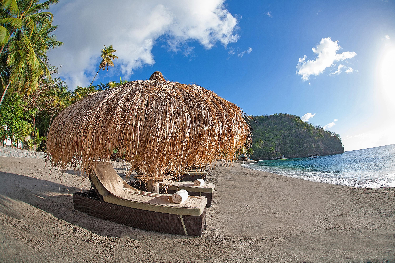 Playa de a isla de Santa Lucia
