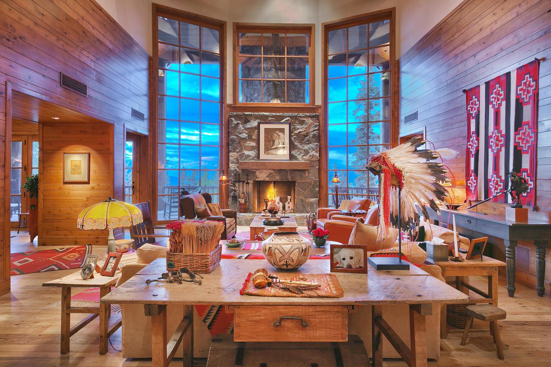Interior de la vivienda de lujo estaudonidense