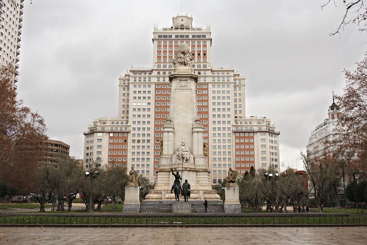 La plaza de España en Madrid