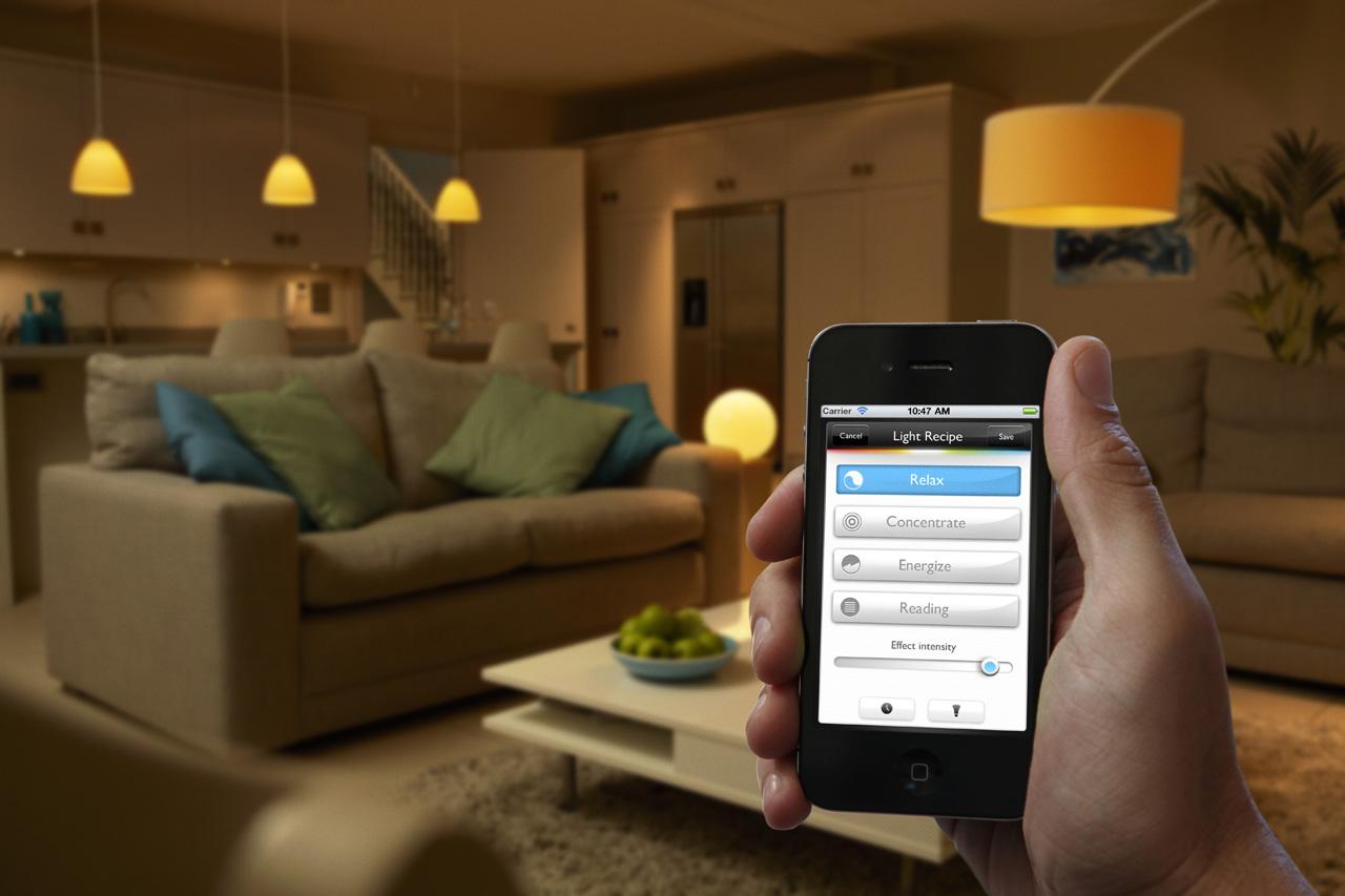 Iluminación controlada a distancia con el móvil