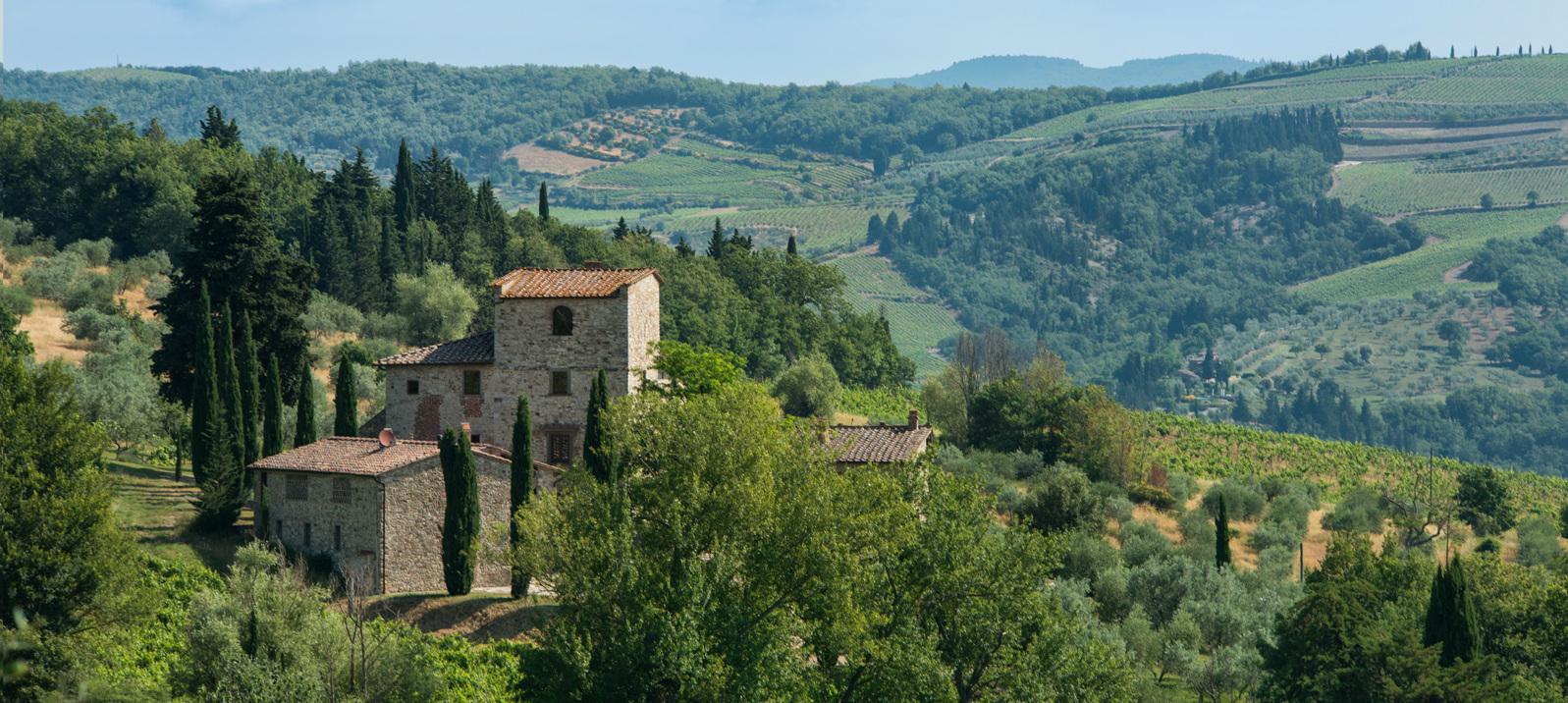 La casa en la campaña de Toscana