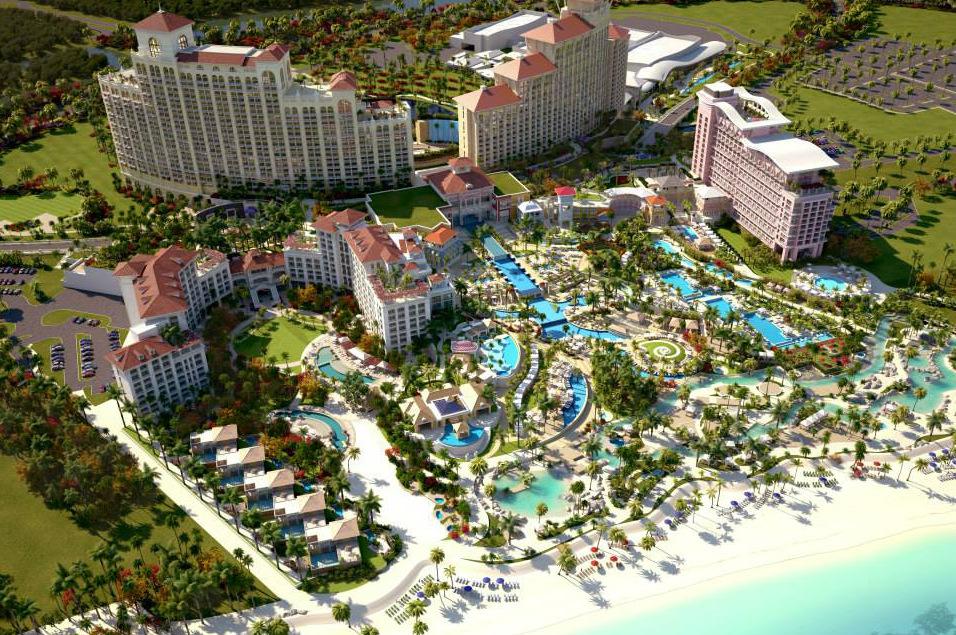 Vista de la playa de las Bahamas