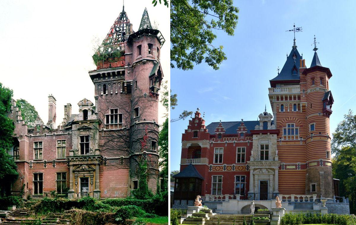 El castillo abandonado en Bélgica